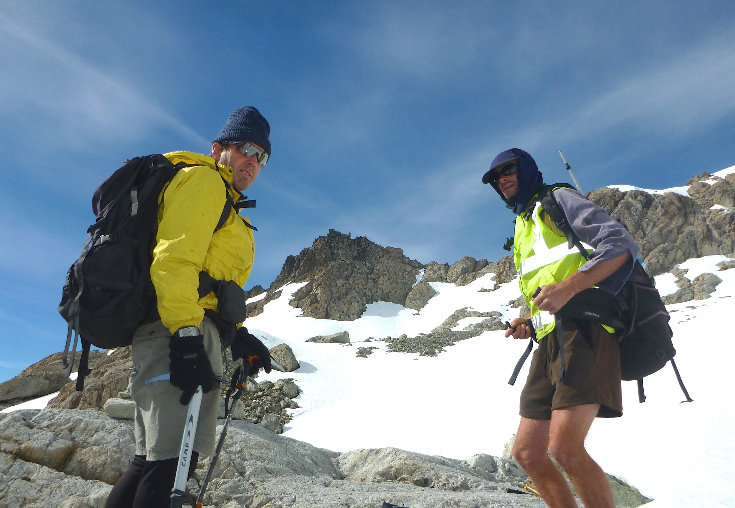 On Mount Hopeless 2290m In Nelson Lakes National park with Carl