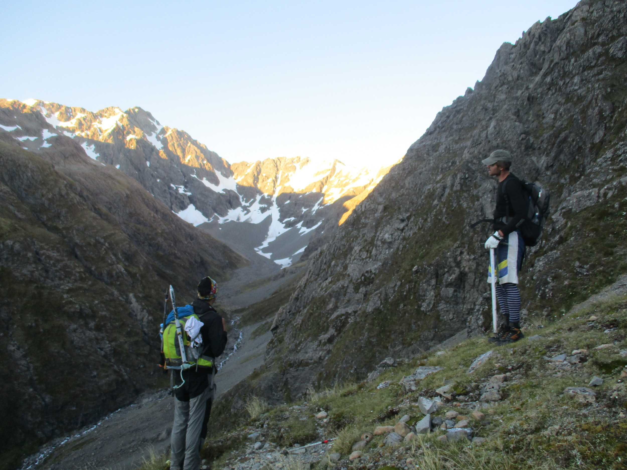 Carl And Sergio Contemplate Warnock's Bluff on the way up Mt Phillistine