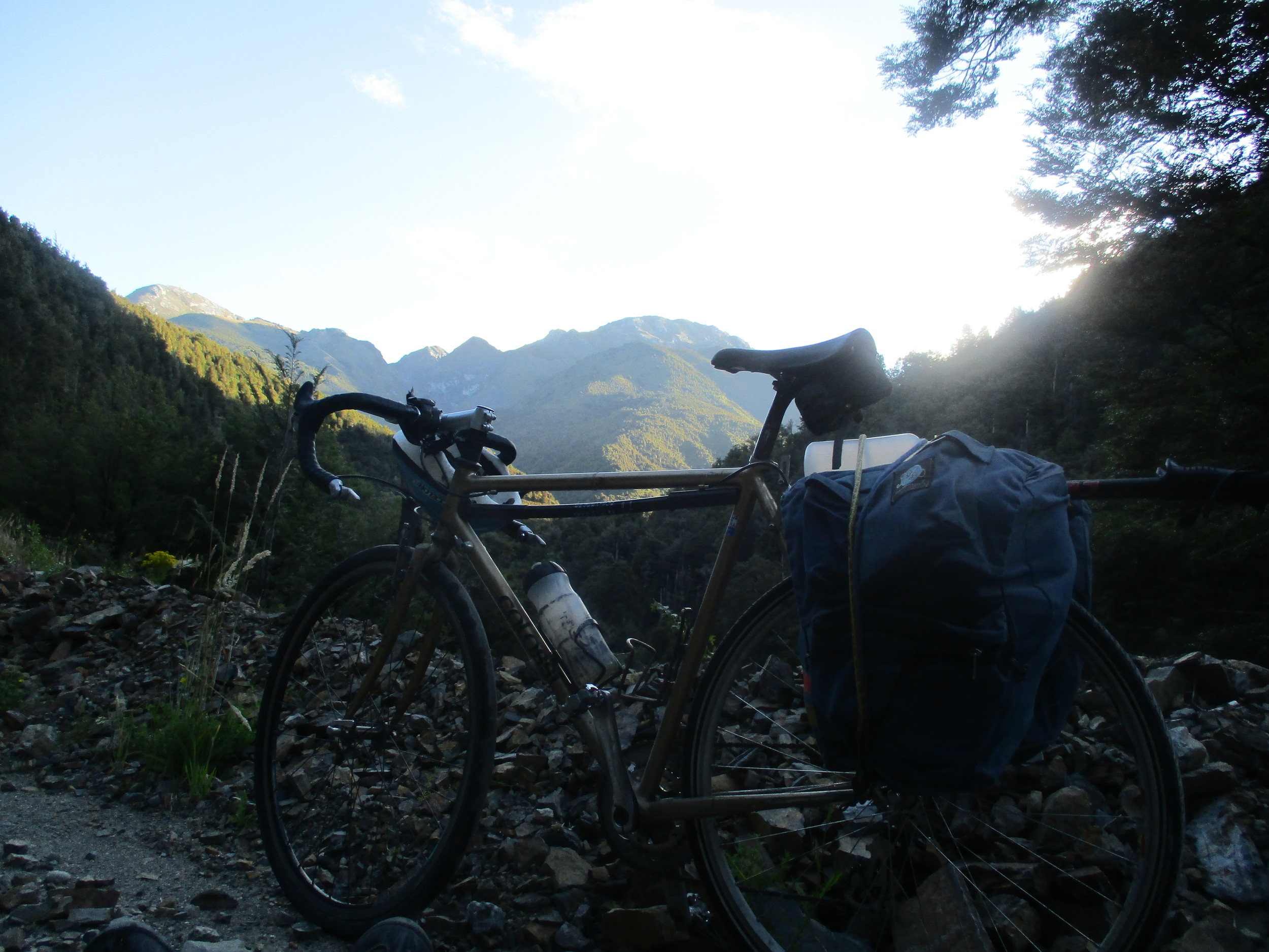 Heading up the Wangapeka valley on route to the Mount Owen Massif
