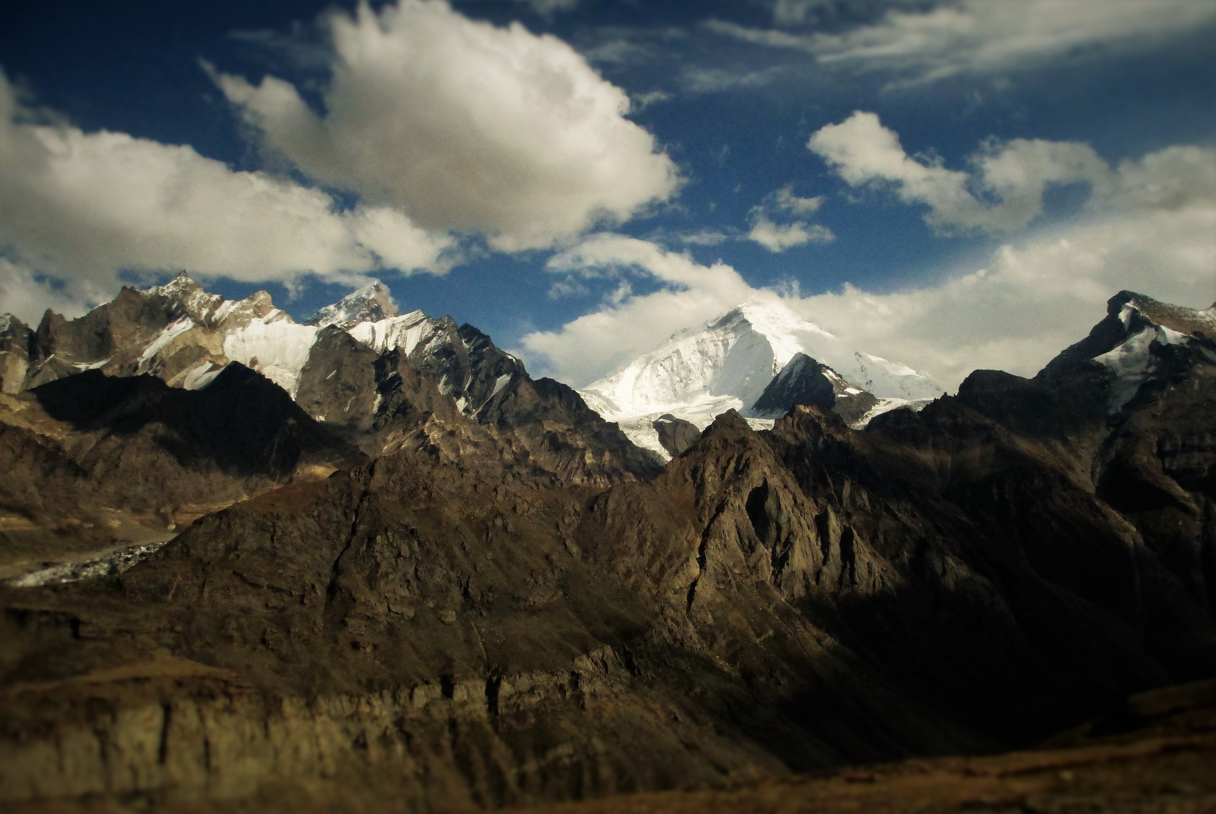 the Zanskar mountains of the Great Himalayas, Kun and Nun behind.