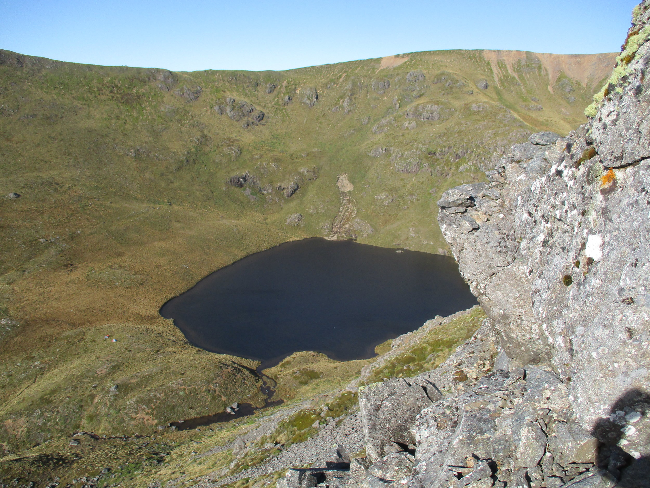 Lake Peel, Our tents can be just seen as dots on left.