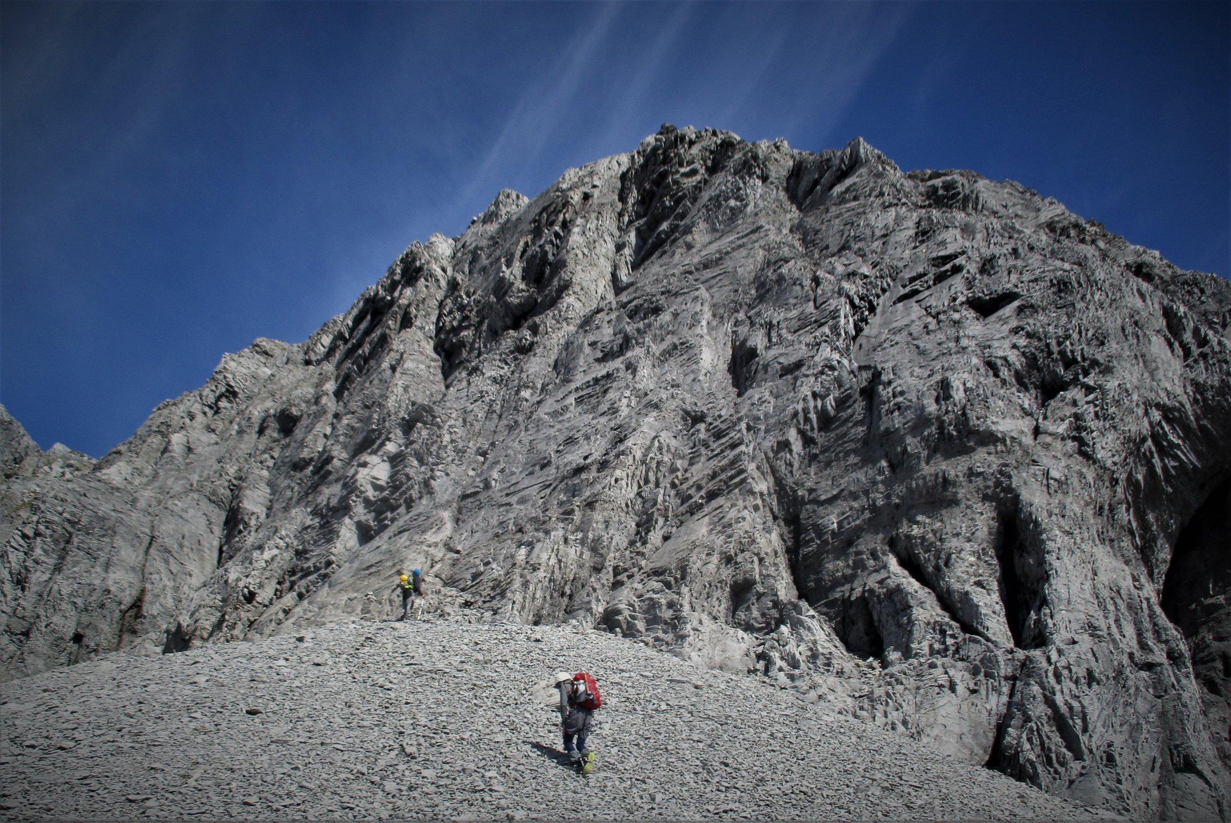Big wall to climb on Arthur range