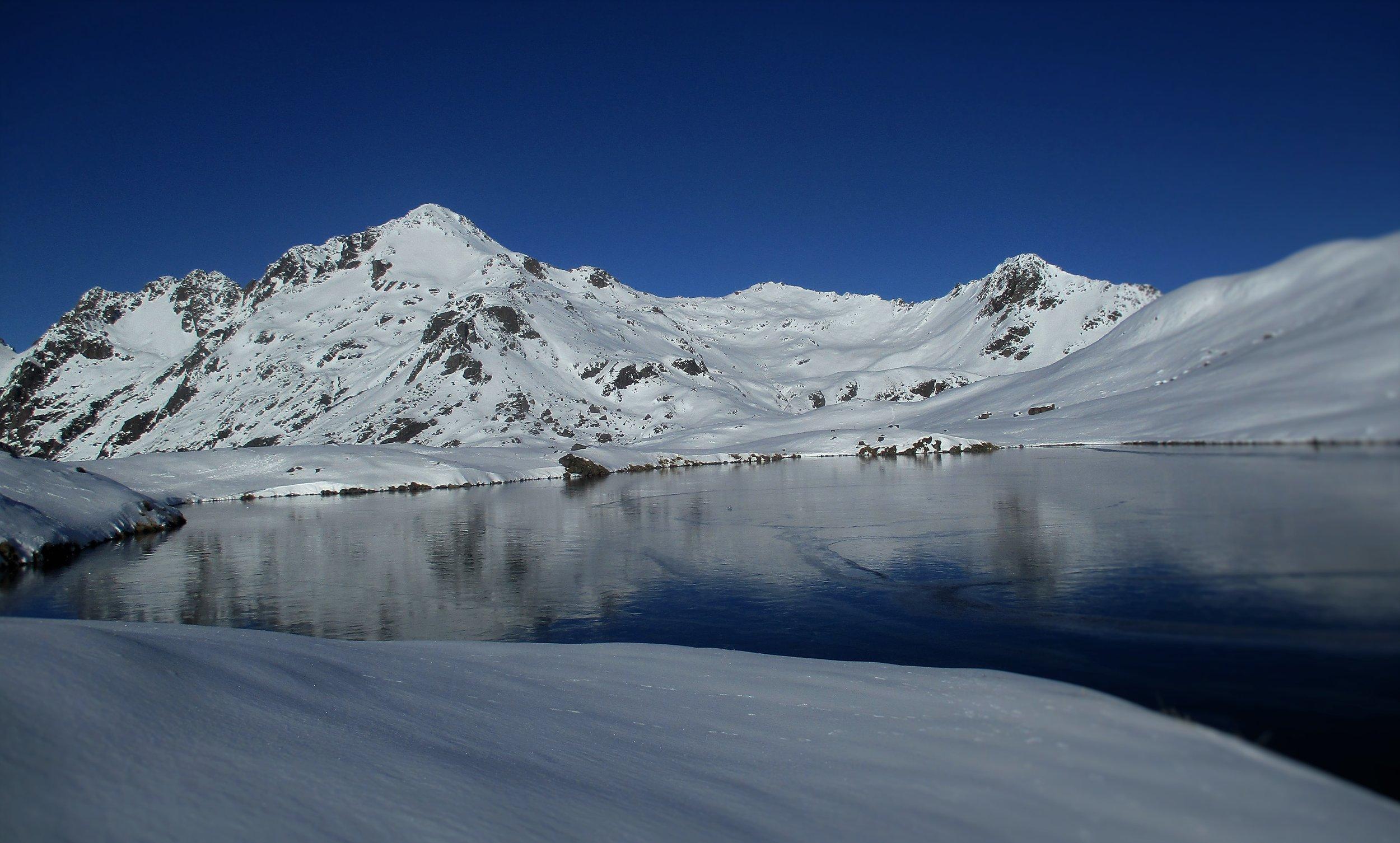 Mount Angelus in early winter.