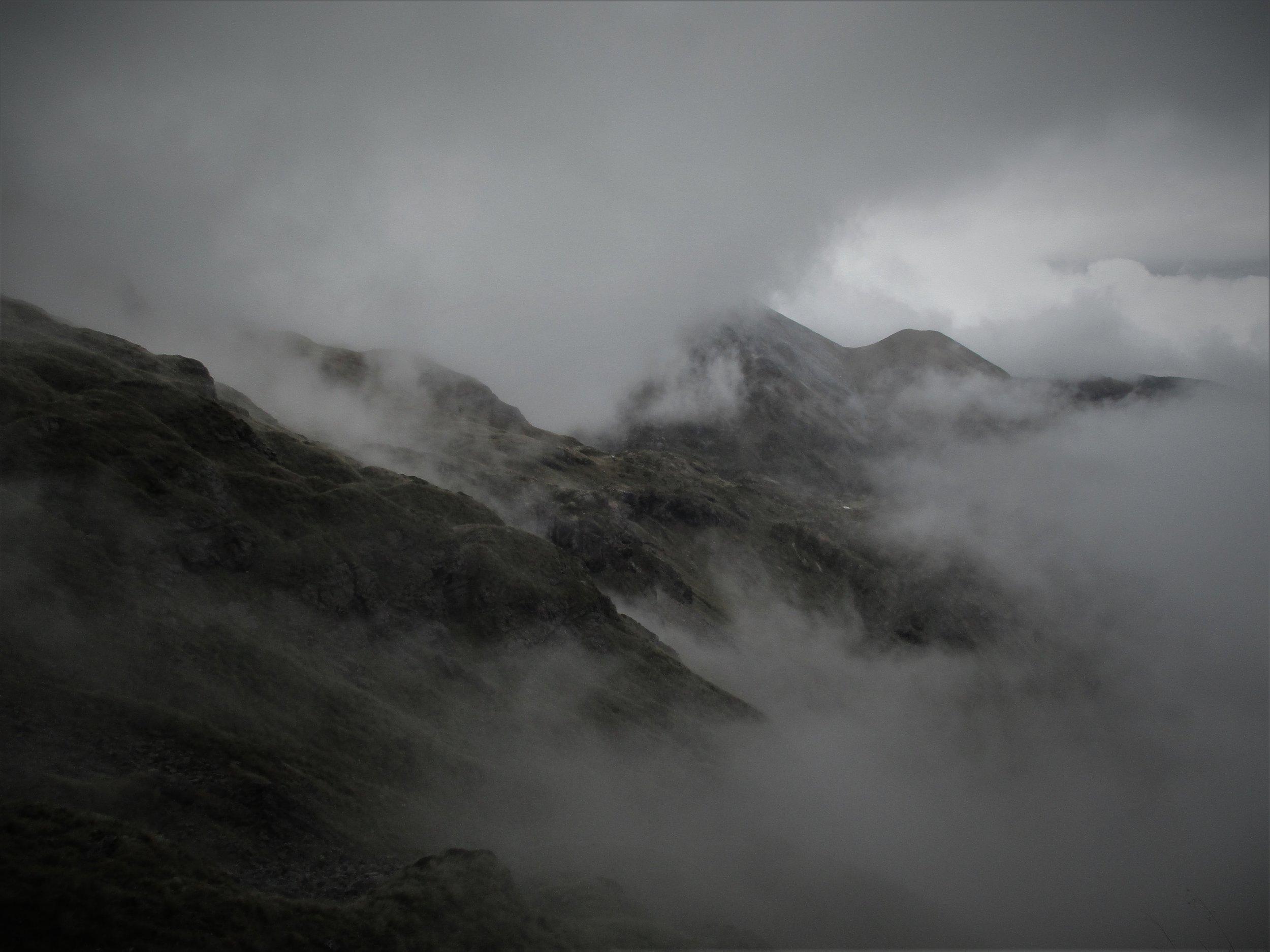 Cloud added depth to the Arthur range