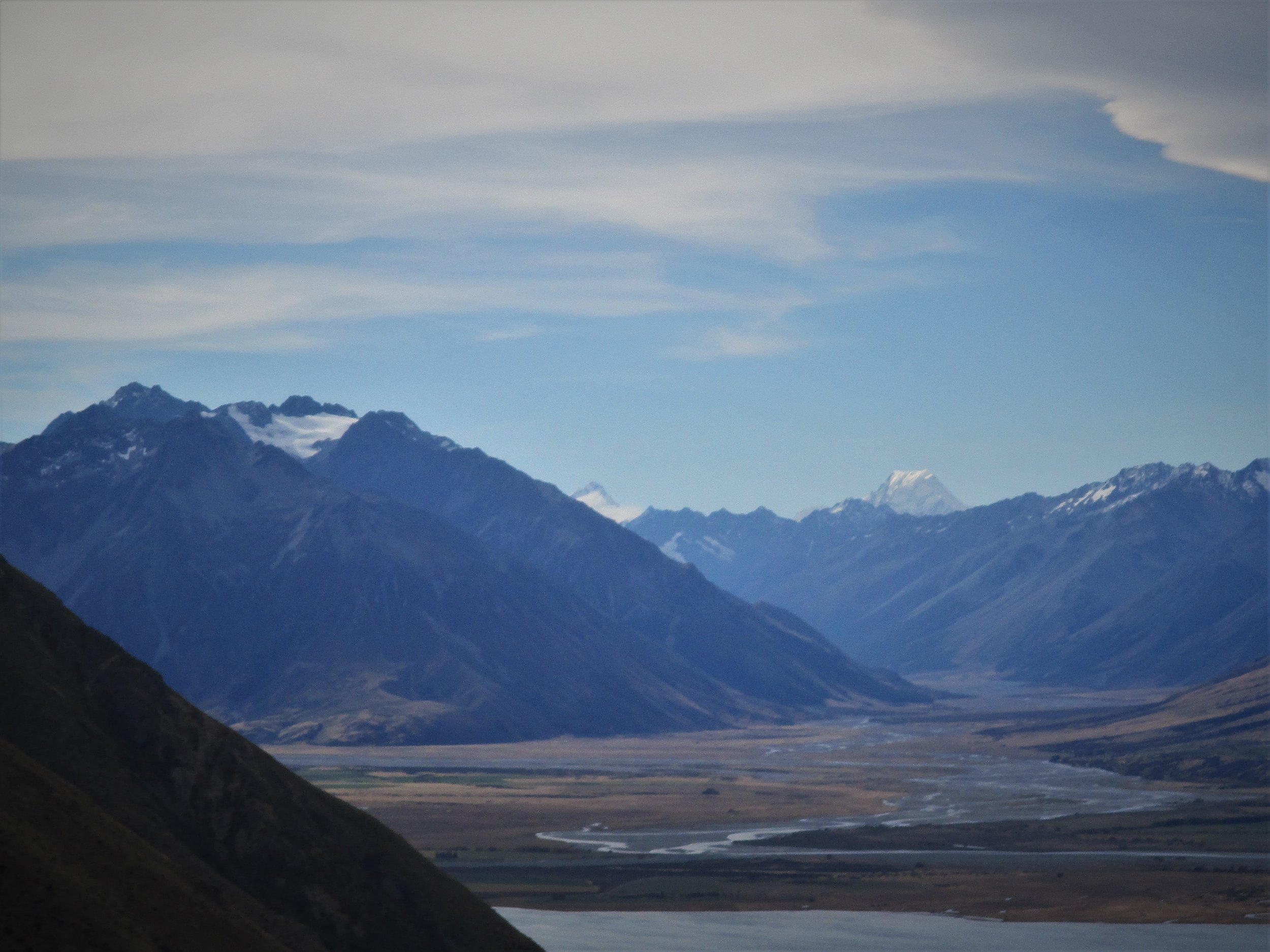 The View from the skifield road , with the moutais Sefton and Aoraki /Cook as backdrops.