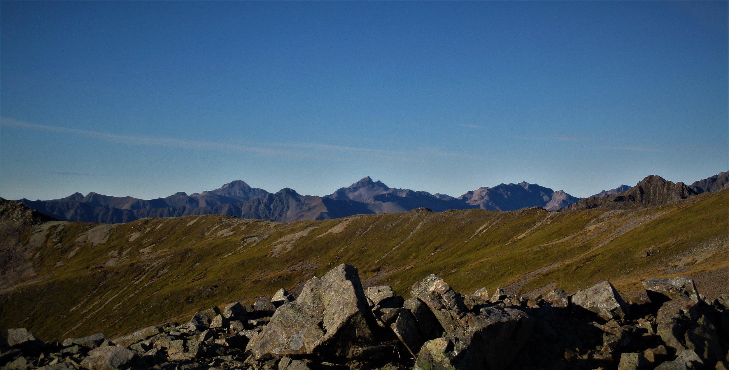 Chittenden and surrounding peaks , still snow less