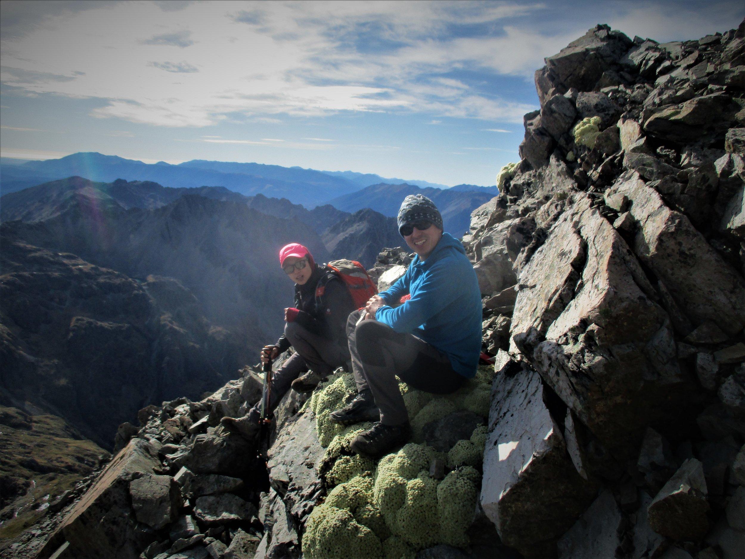 Meetig Sergio and Mei near the summit of Angelus