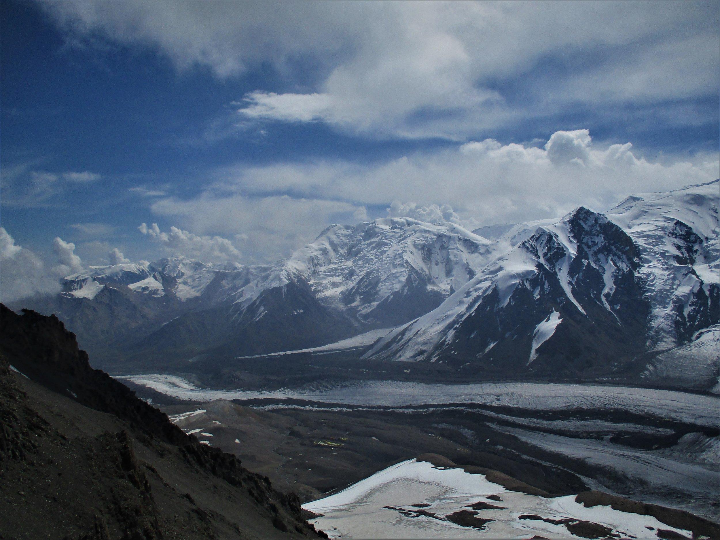 Looking north down the Lenin glacier
