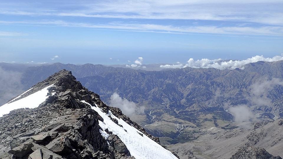View to the East and South America over the Pacific from the Summit
