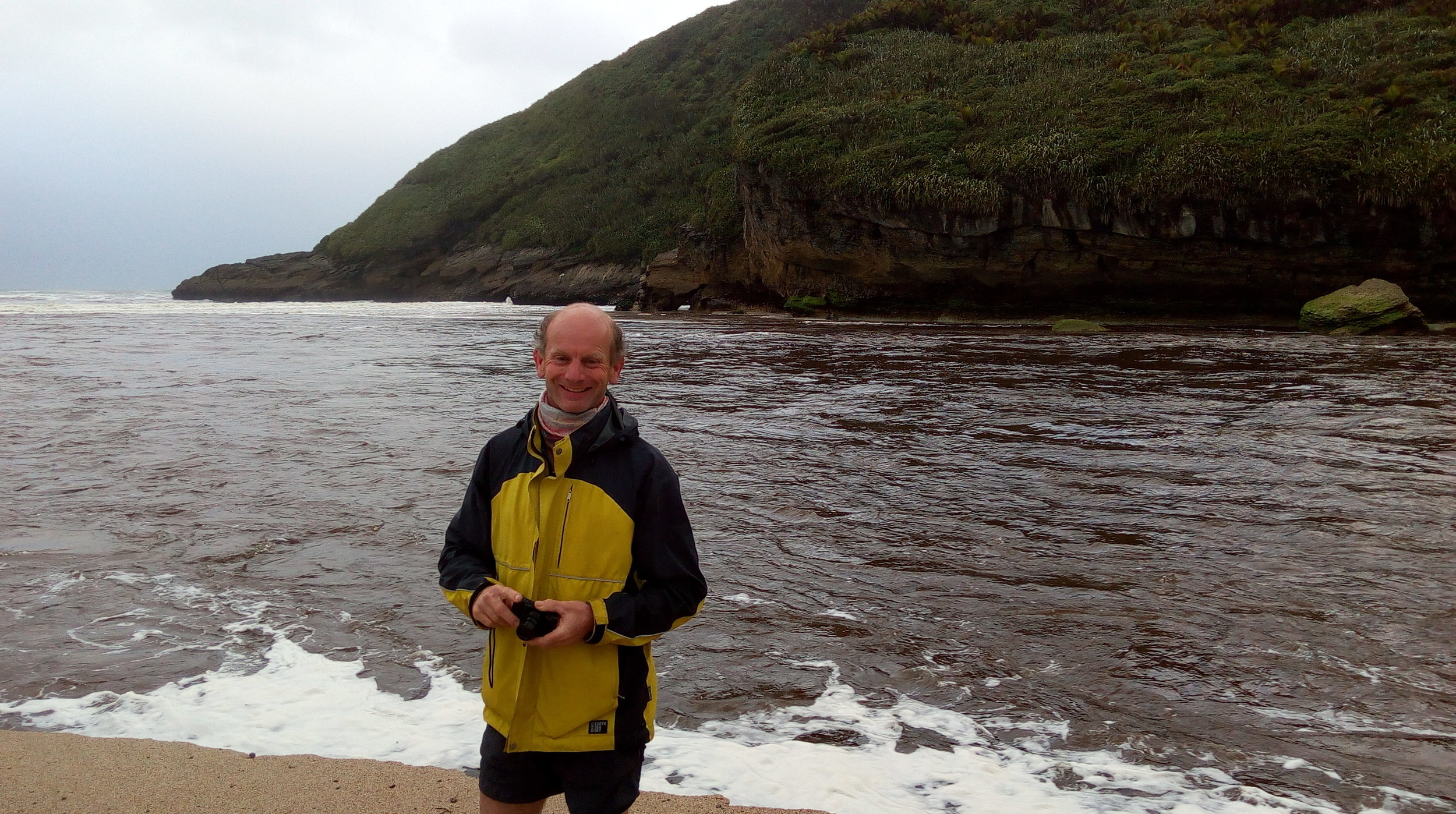 Another of our guides - all smiles Richard at the Heaphy beach