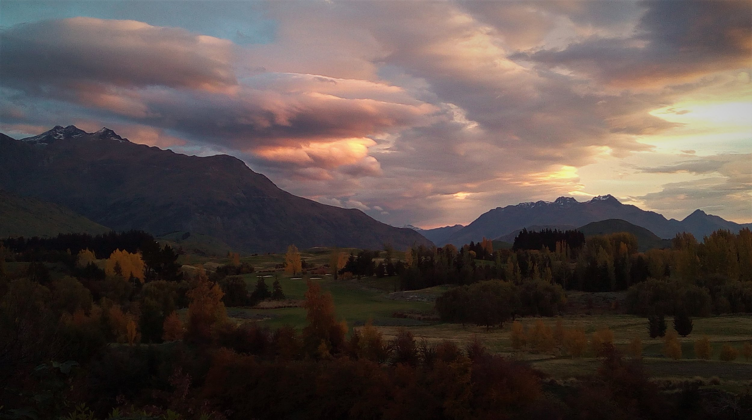 In Arrowtown at Sunset