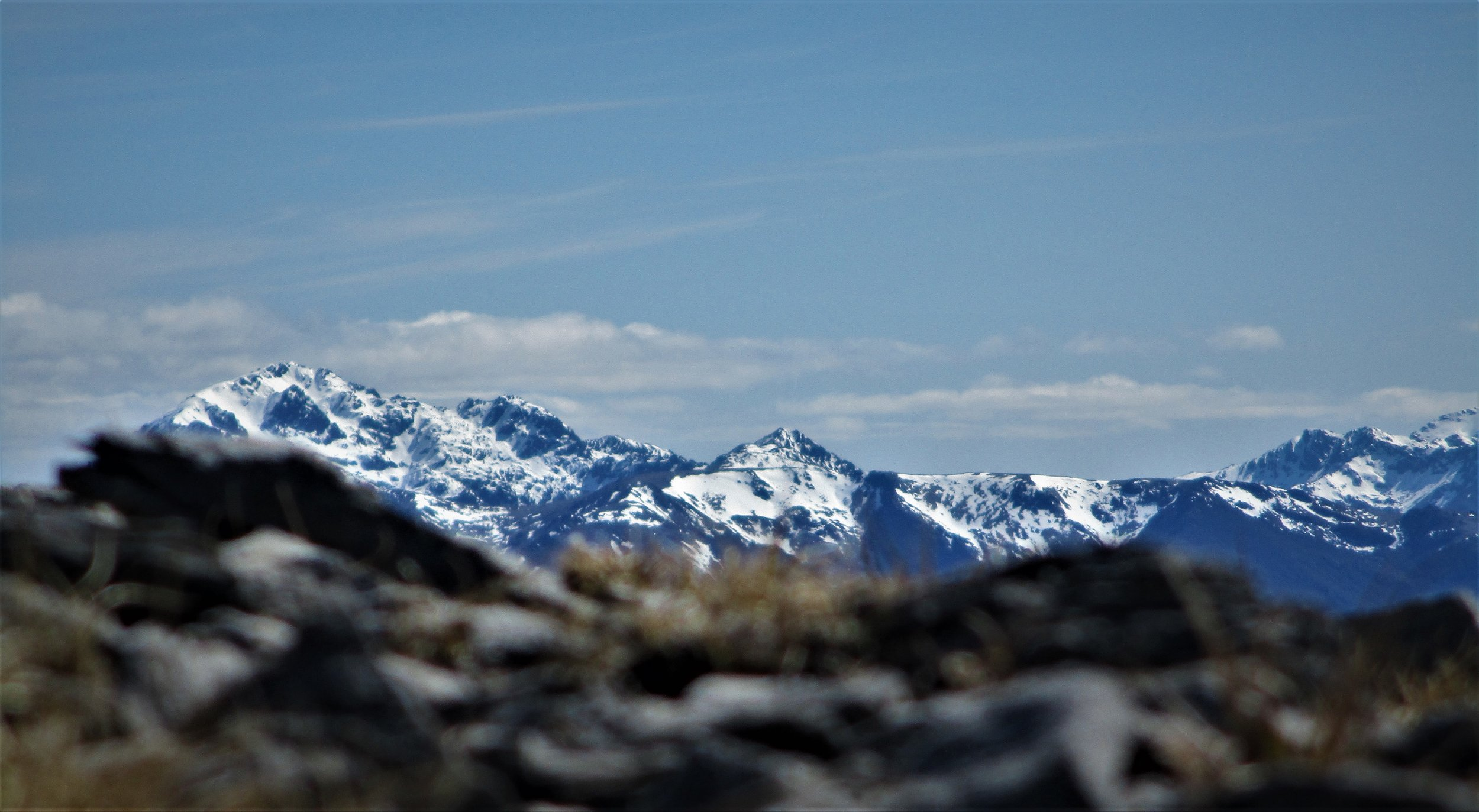 Mount Snowden from west of the ridge line.