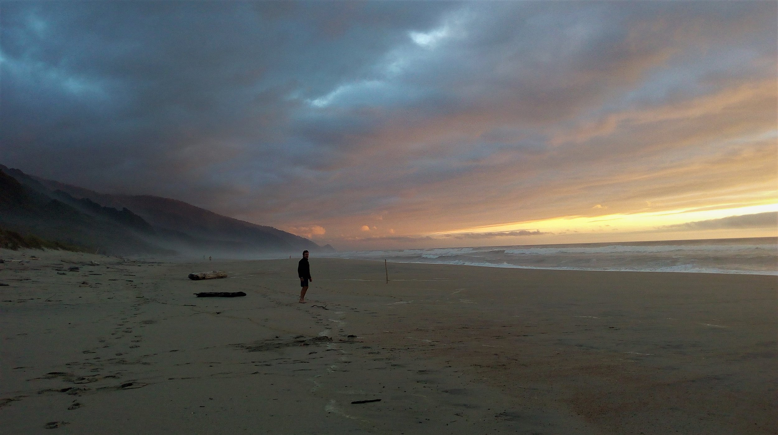 Heaphy Beach - New Years eve.