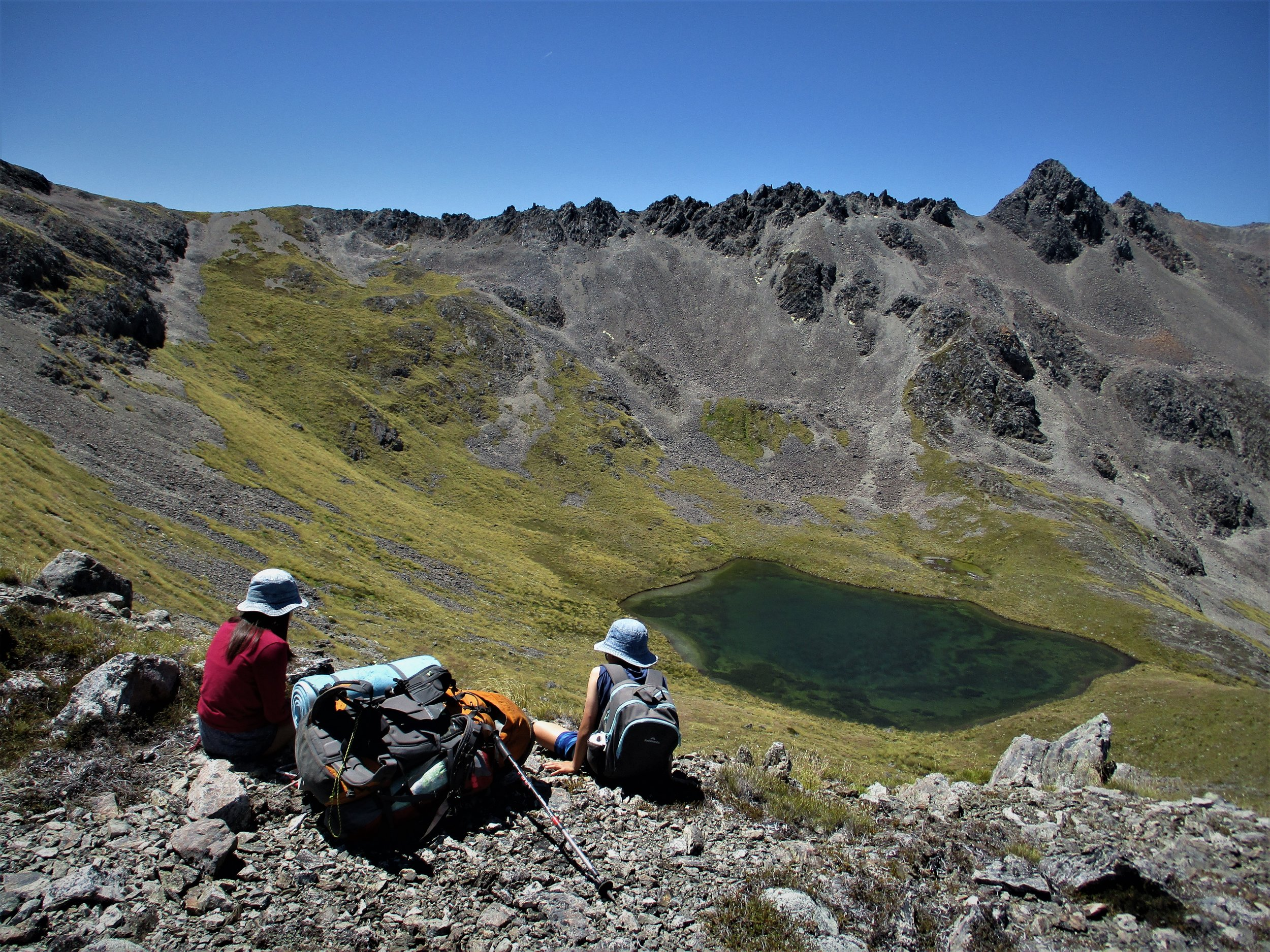 Hiking to mountain Tarns in the Nelson Lakes.