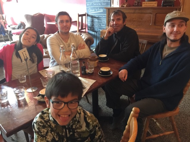 In Dunedin with family , Leo, Isabelle , Aleksander and Marco.