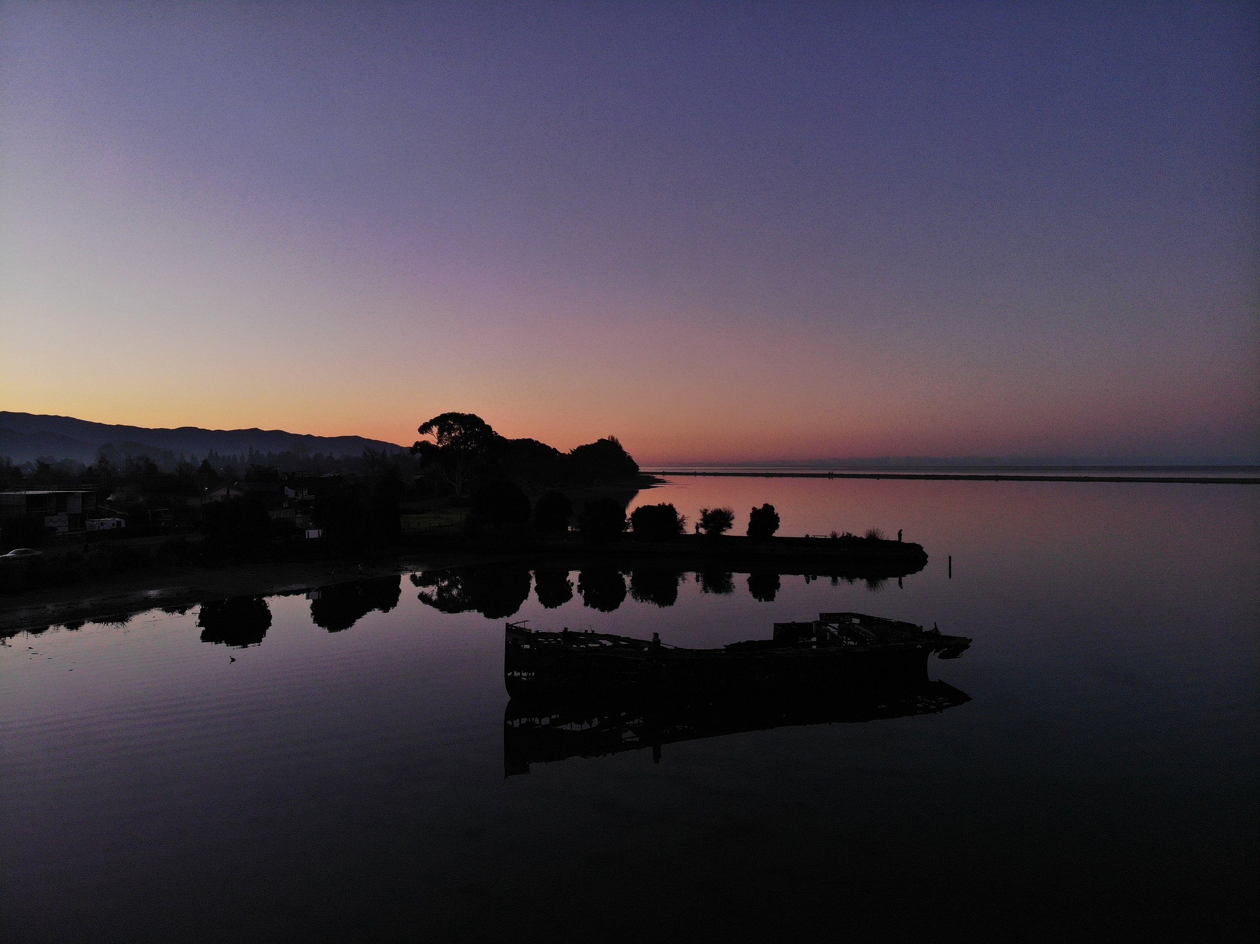 Winter Sunset over the estuary - Motueka section of the Shire , Middle Earth