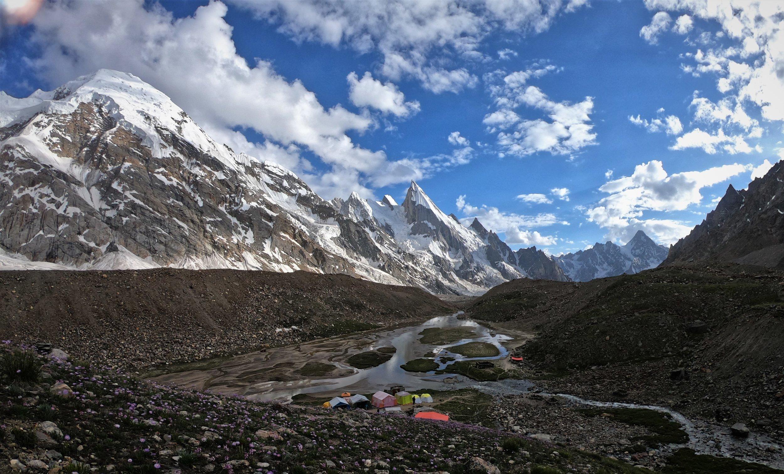 camping below Laila peak.