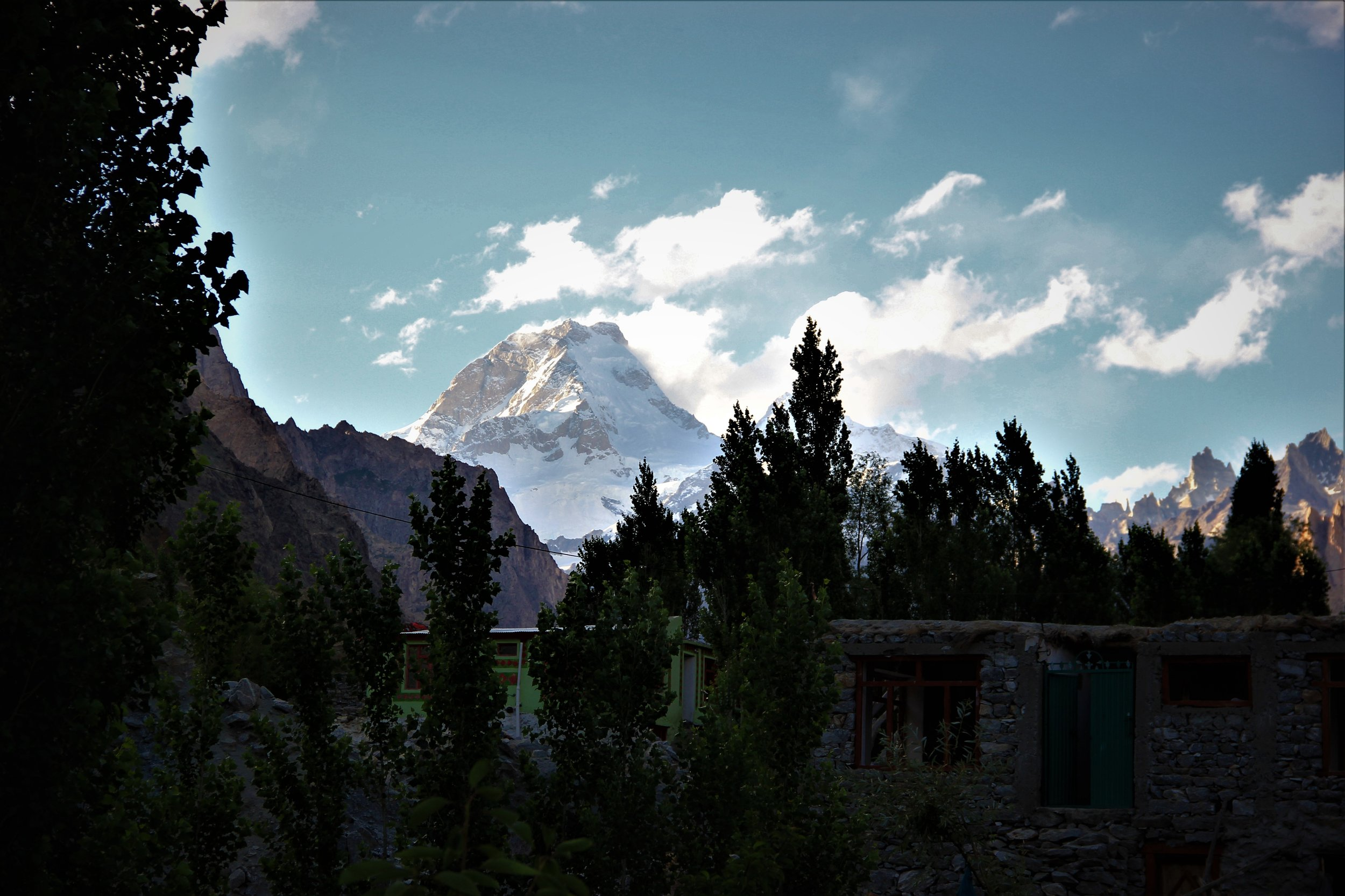 the village of Kandi in Hushe valley - Masherbrum dominates the Northern skyline.
