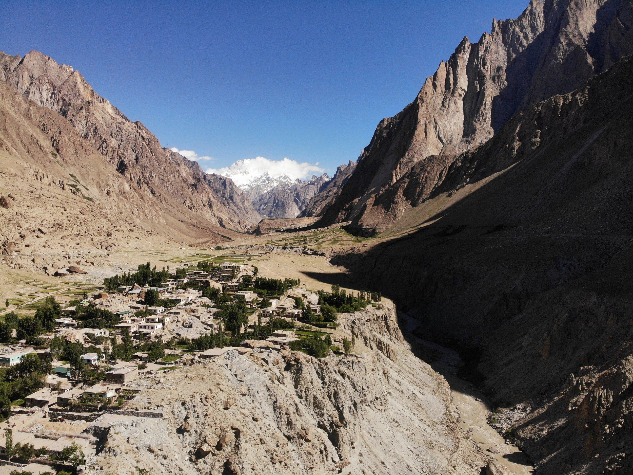Aerial shot of Kandi.