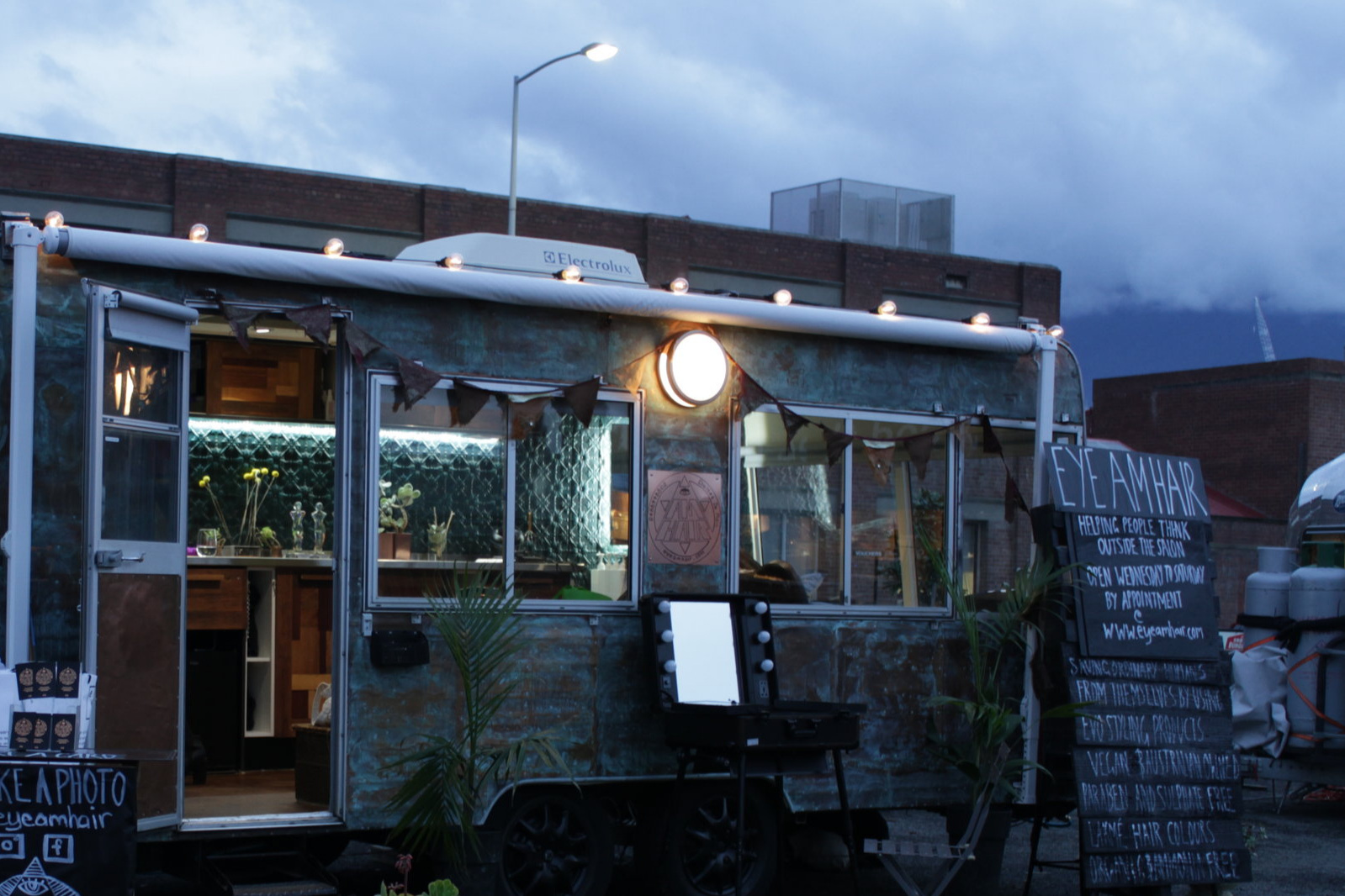 Find the copper caravan at Macquarie Point, Red Sqaure. - ADDRESS:14B EVANS STREET, HOBART, TASMANIA, AUSTRALIA, 7000.Parking available behind HOBART BREWING CO. & on Hunter and Evans st.Phone:0488998802