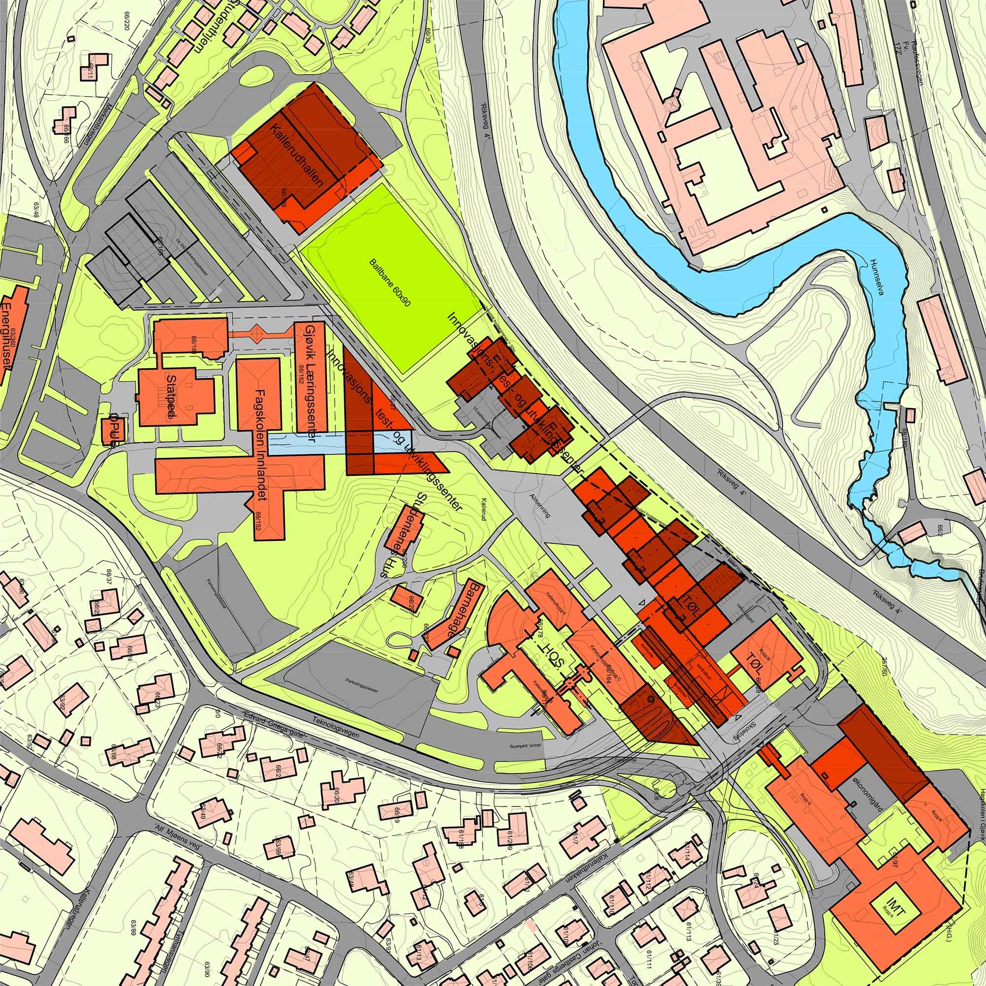 Strukturskisse Campus Kallerud - Underlag regulering