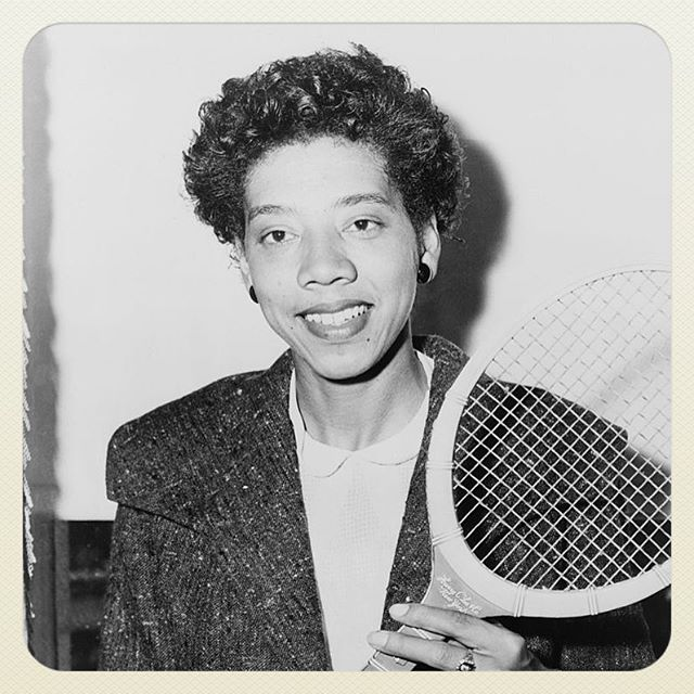 Image of Althea Gibson; the first African-American to play at, and win, Wimbledon and the US Open.