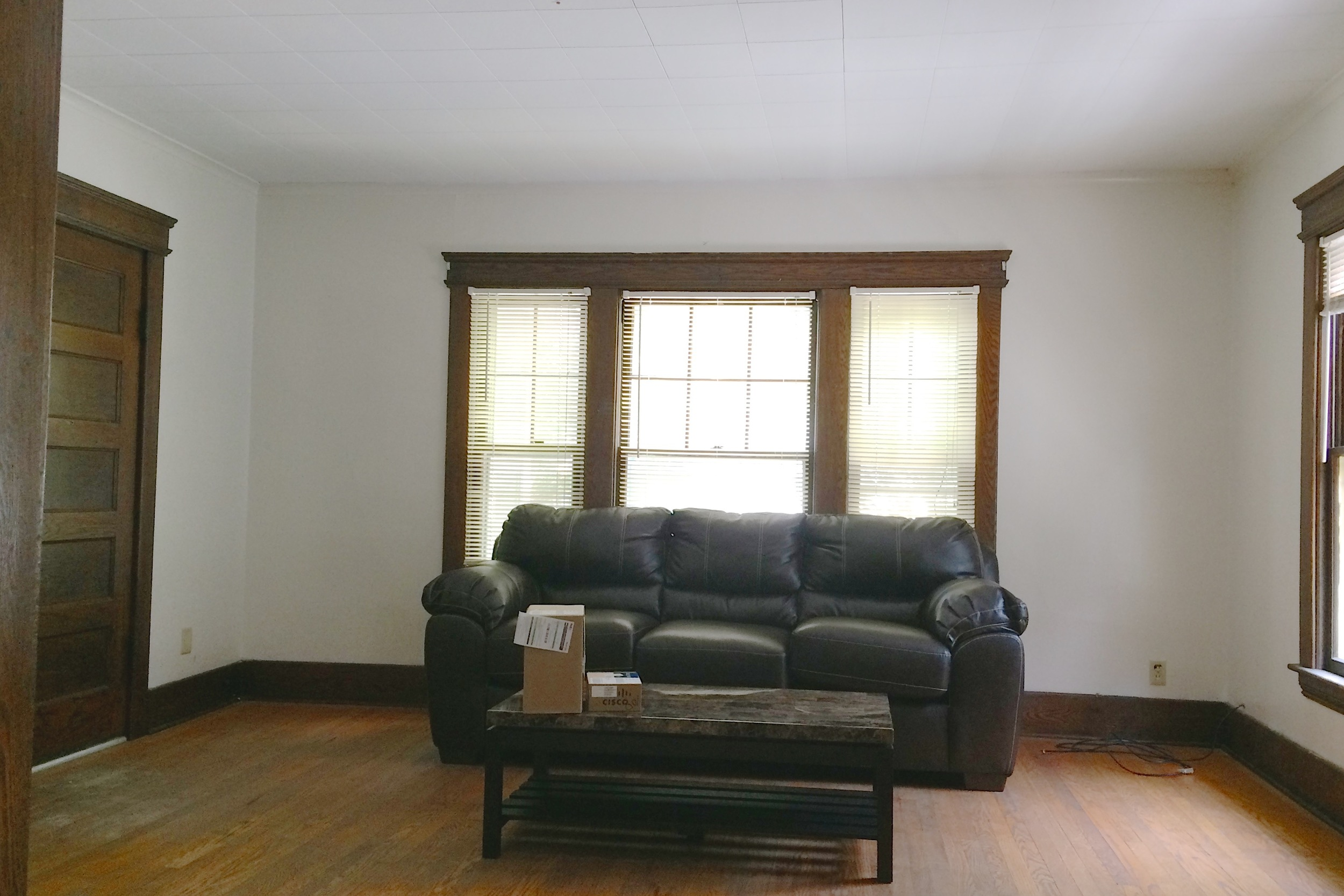 looking into living room from dining room