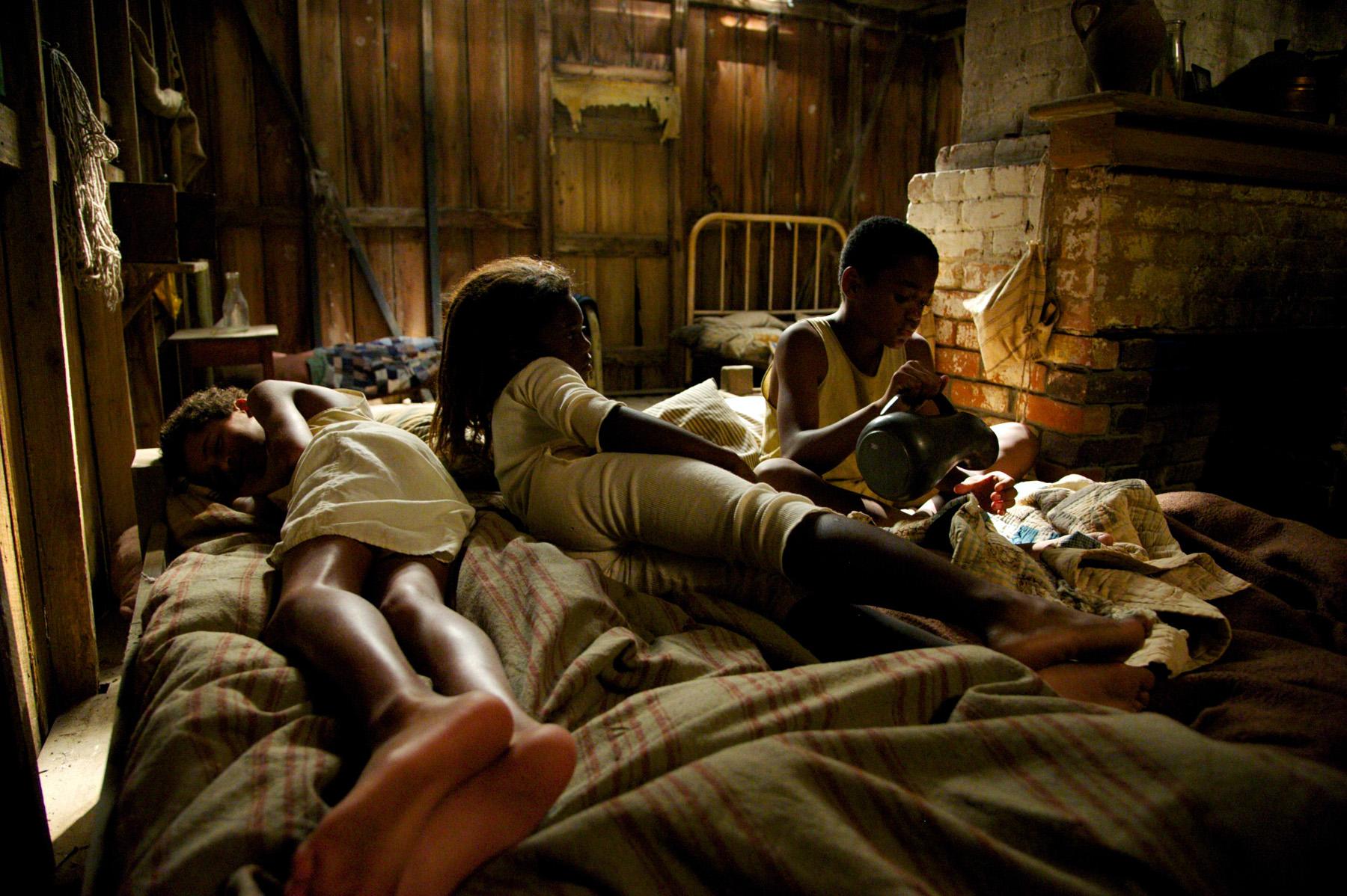 3 kids in sharecropper cabin.jpg