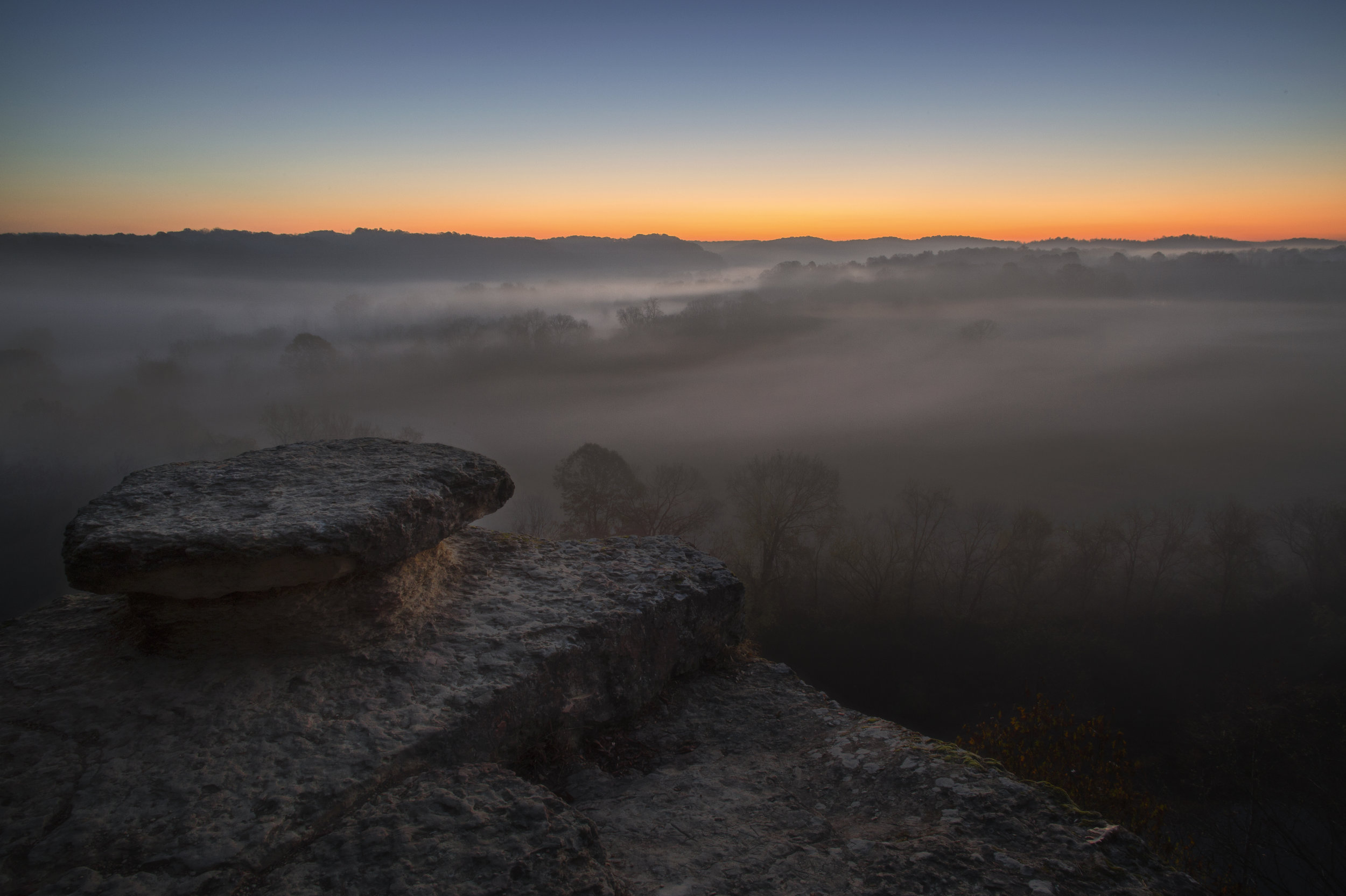 Sunrise at the Narrows of the Harpeth