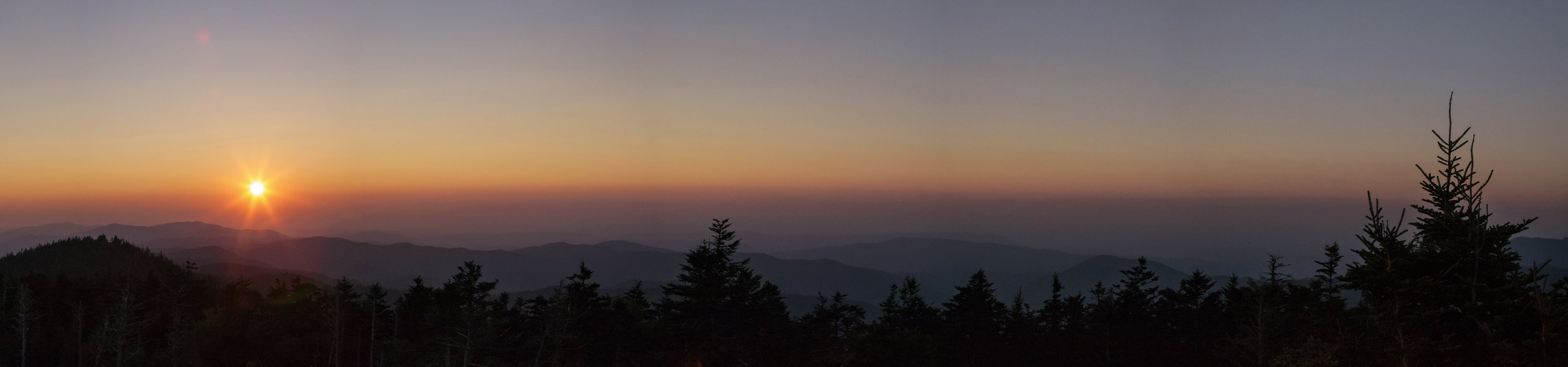 Sunset over the Smokeys