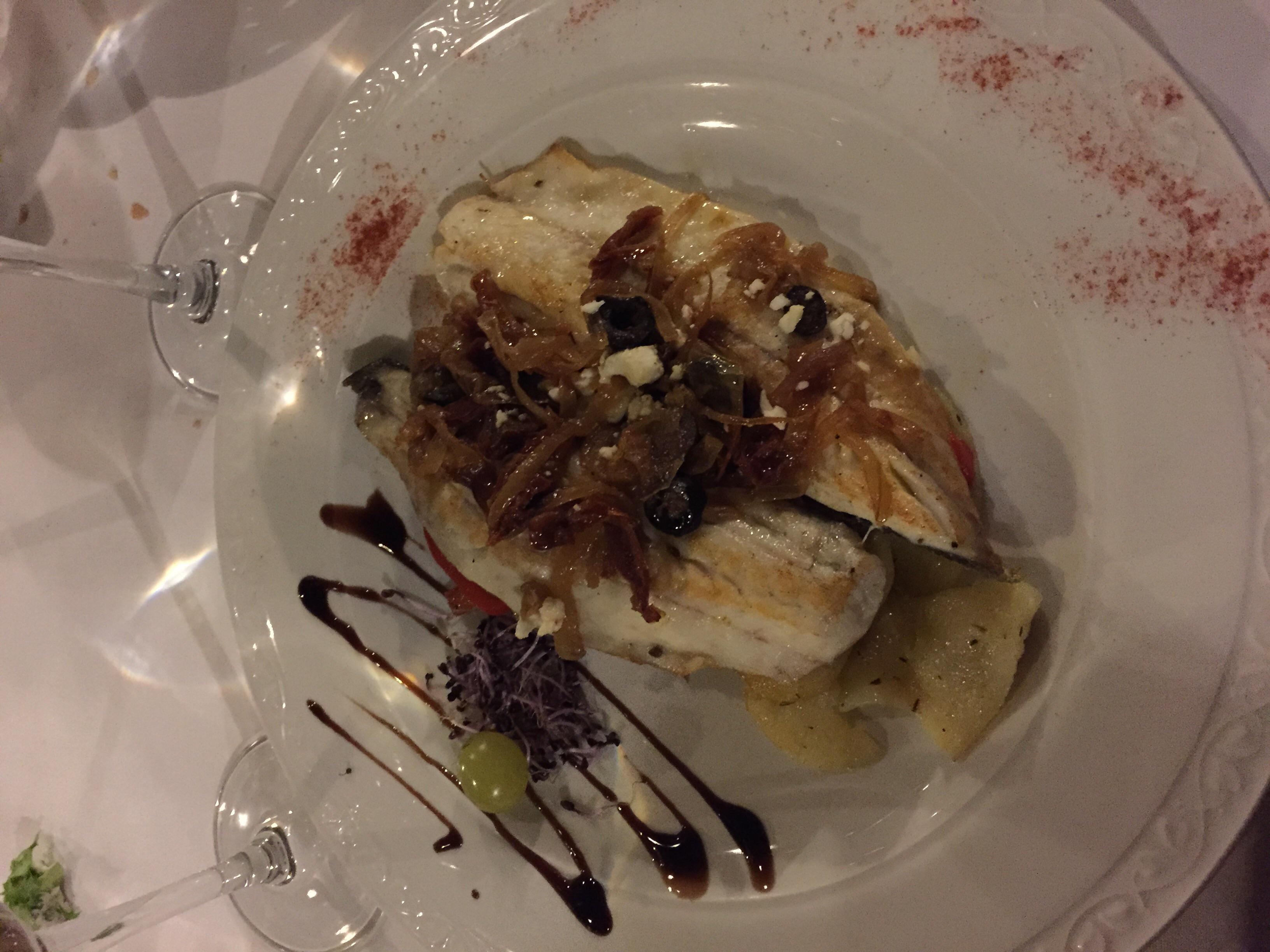 My sea bass dish!