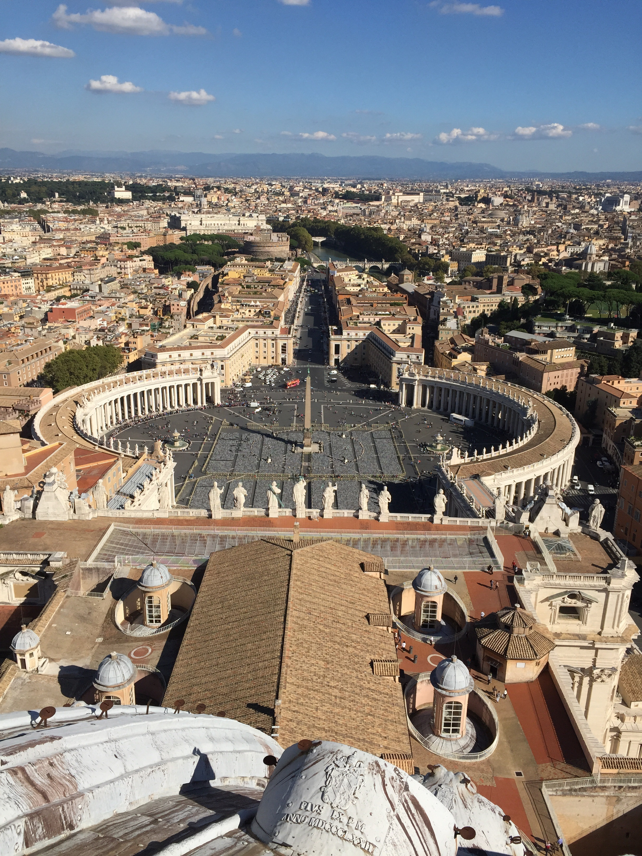 View from the top of St. Peter's basilica.