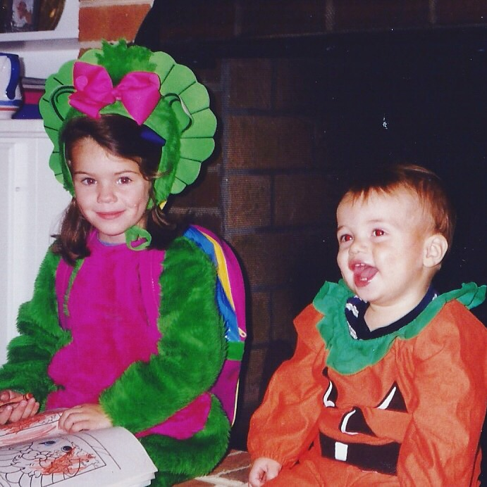 A little throwback to Halloween on Cottage Place...I was so obsessed with that baby bop costume!