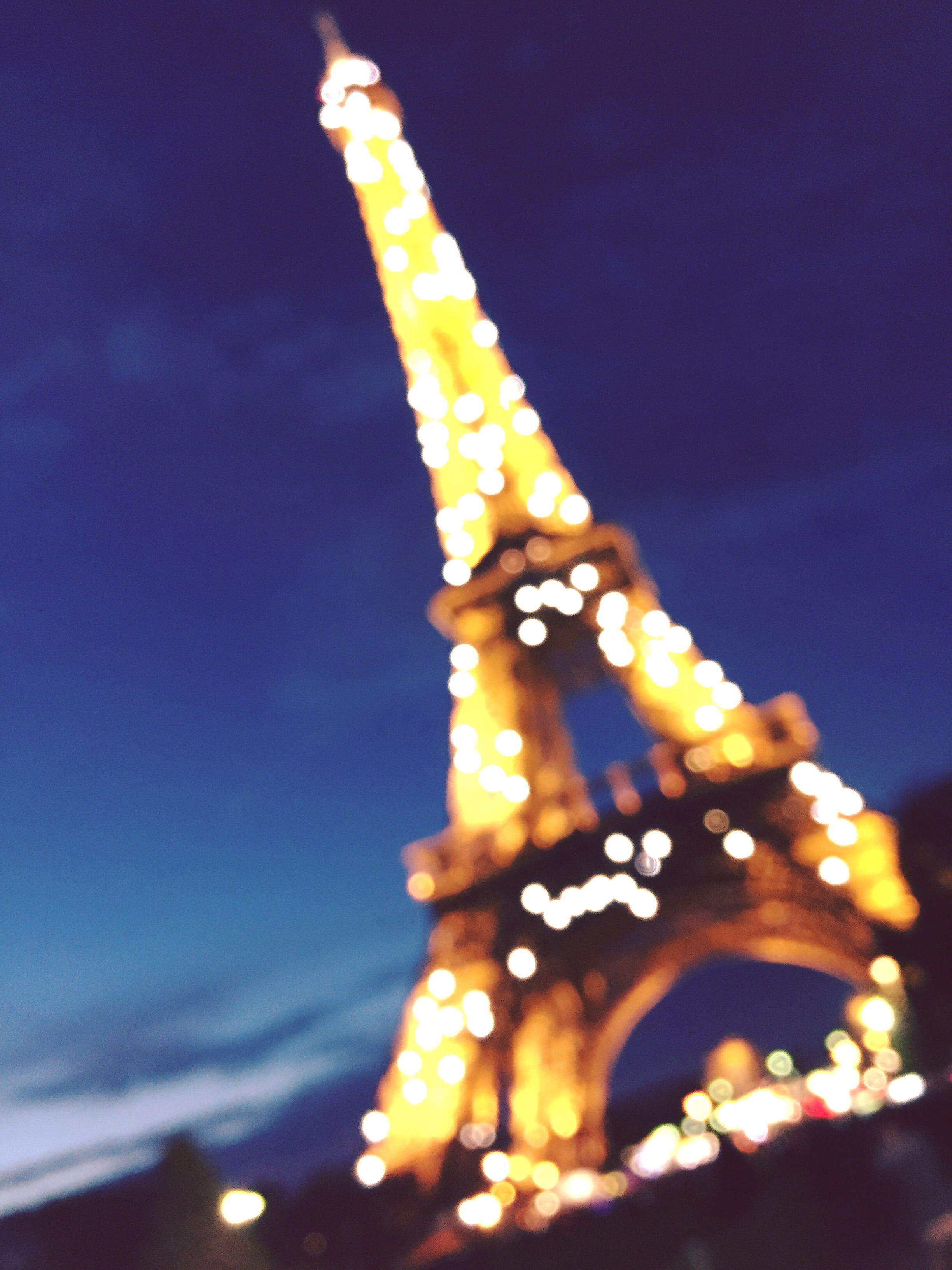 Every night beginning at 6pm, the Eiffel Tower's lights sparkle for 5 minutes every hour. It's the most magical sight!