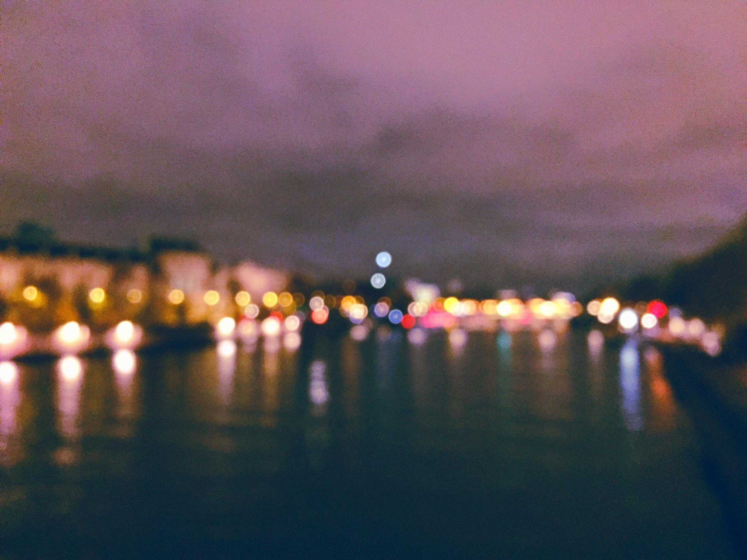 The Seine on a rainy evening.