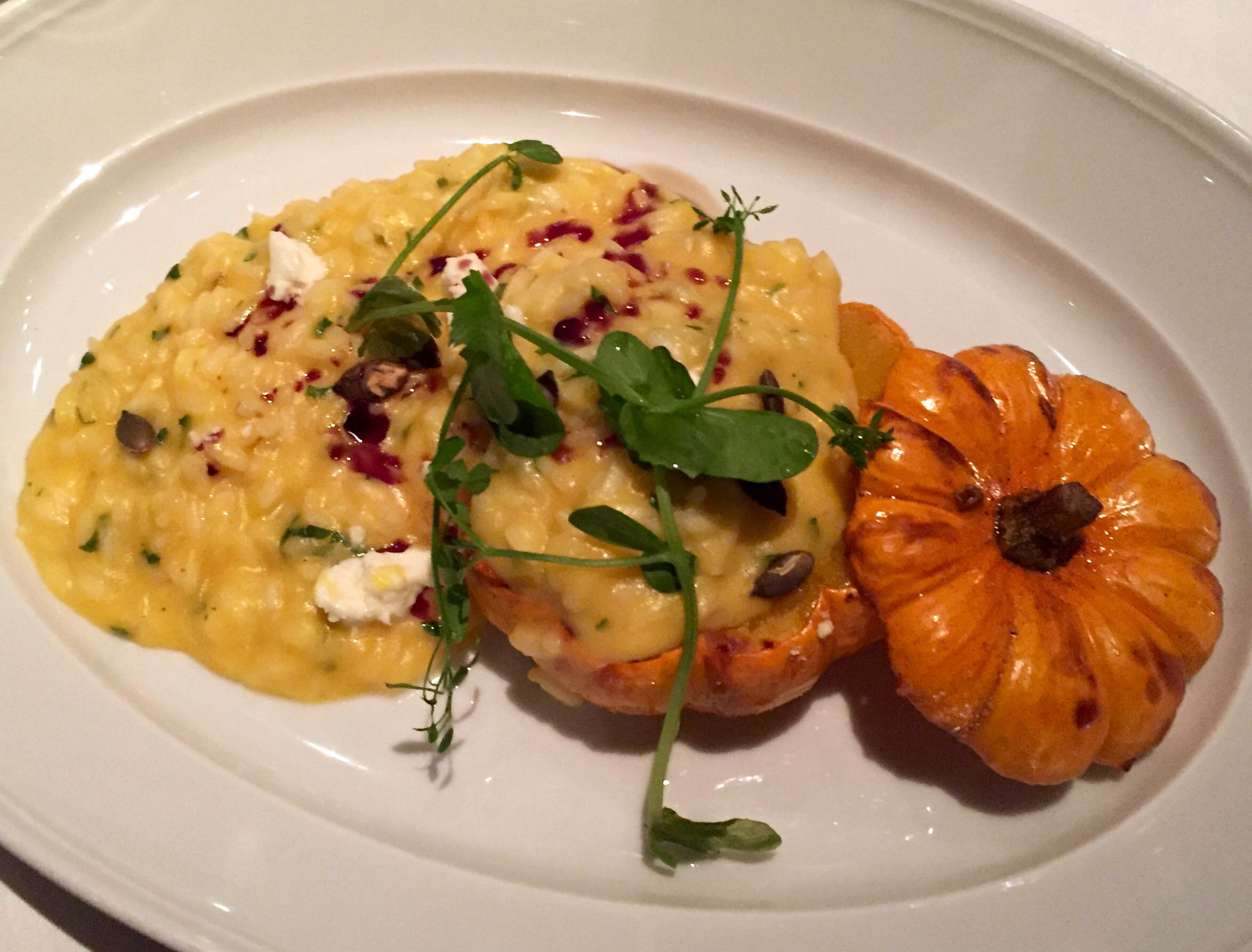 Pumpkin risotto...in a pumpkin!
