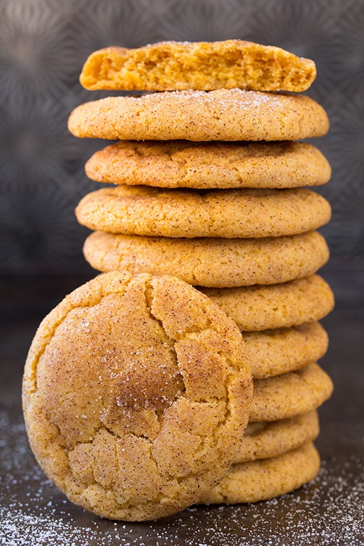 Get the recipe here:   http://www.cookingclassy.com/2014/10/pumpkin-snickerdoodles/