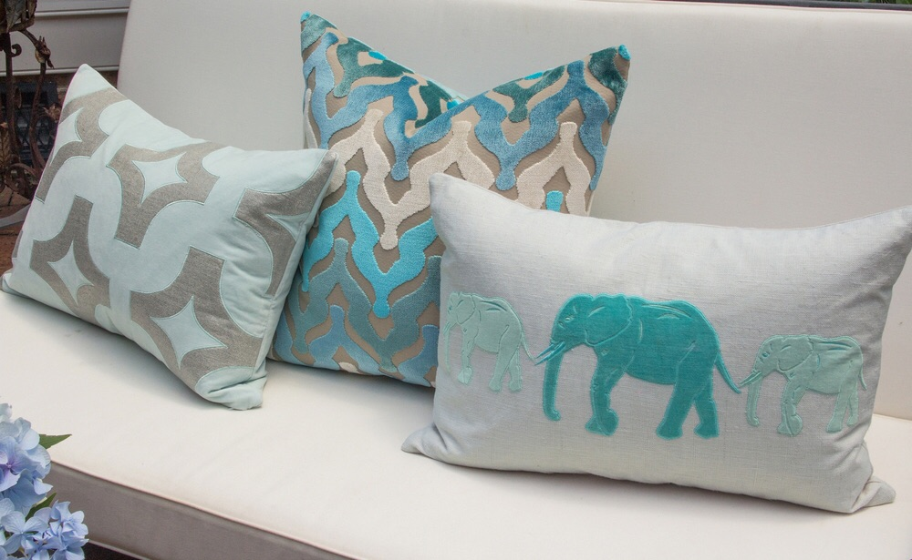 Pillows by Piper Collection. My dorm pillows are the one in the center!