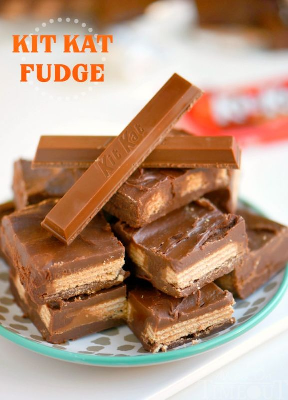 Why not end the ongoing debate about how to properly eat a Kit Kat, and just decide that the unanimous best way is in homemade  Kit Kat Fudge . It literally adds an extra layer of dense, rich chocolate around the crispy wafers to make every bite that much more indulgent.
