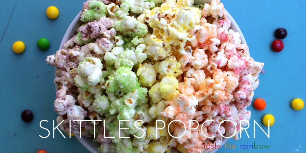 Possibly my favorite candy hack on the list, this  Skittles Popcorn involves breaking down each respective color of skittles into a powder in the food processor before fusing it with popcorn to make an incredibly delicious and beautiful popcorn treat. Like kettle corn, but much better and much prettier.