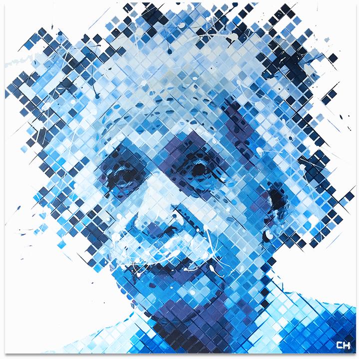 Albert Einstein III, 2016   Acrylic on canvas   (30in × 30in)