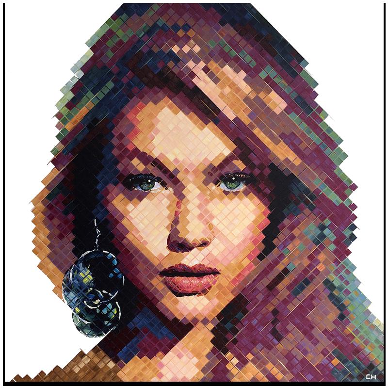 Gigi Hadid, 2016   Acrylic on canvas   (48in × 48 in)