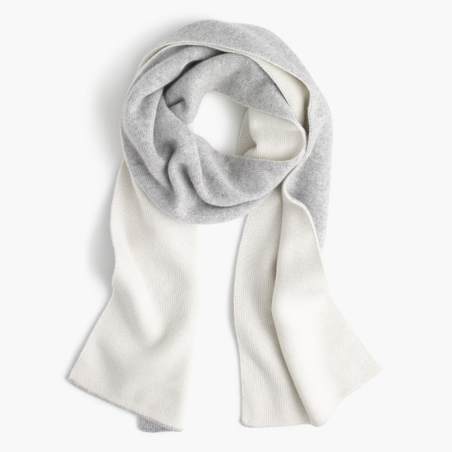 Scarves before the weather changes are usually just for looks, but once it gets chilly you need them to be functional as well. This  Colorblock Cashmere Scarf checks off both those categories because it keeps your neck super warm while also adding a light and fluffy look to your outfit!