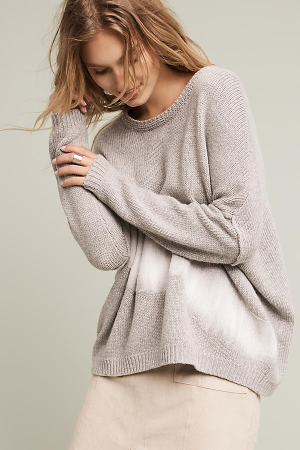 Though summer may be the time for tye dye to take over, I love the way Anthropologie incorporated a subtle dye effect in this  Felted Brushstroke Pullover . It's super loose and flowy, so you can layer under or on top of it.