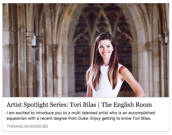 Blog post by Holly Phillips,  The English Room