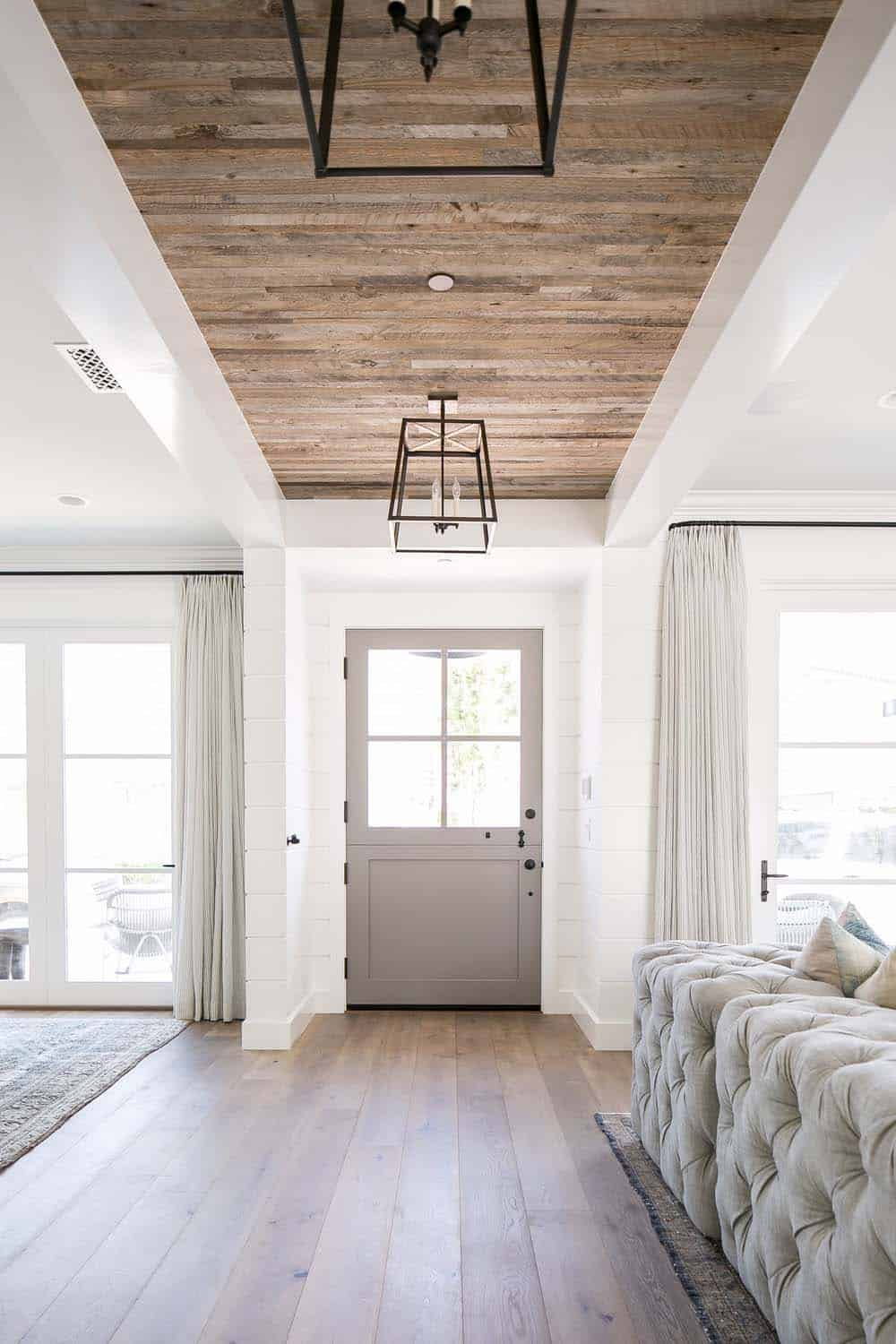 I love these farmhouse doors that can be opened on the top to let a breeze through the house on a nice day.
