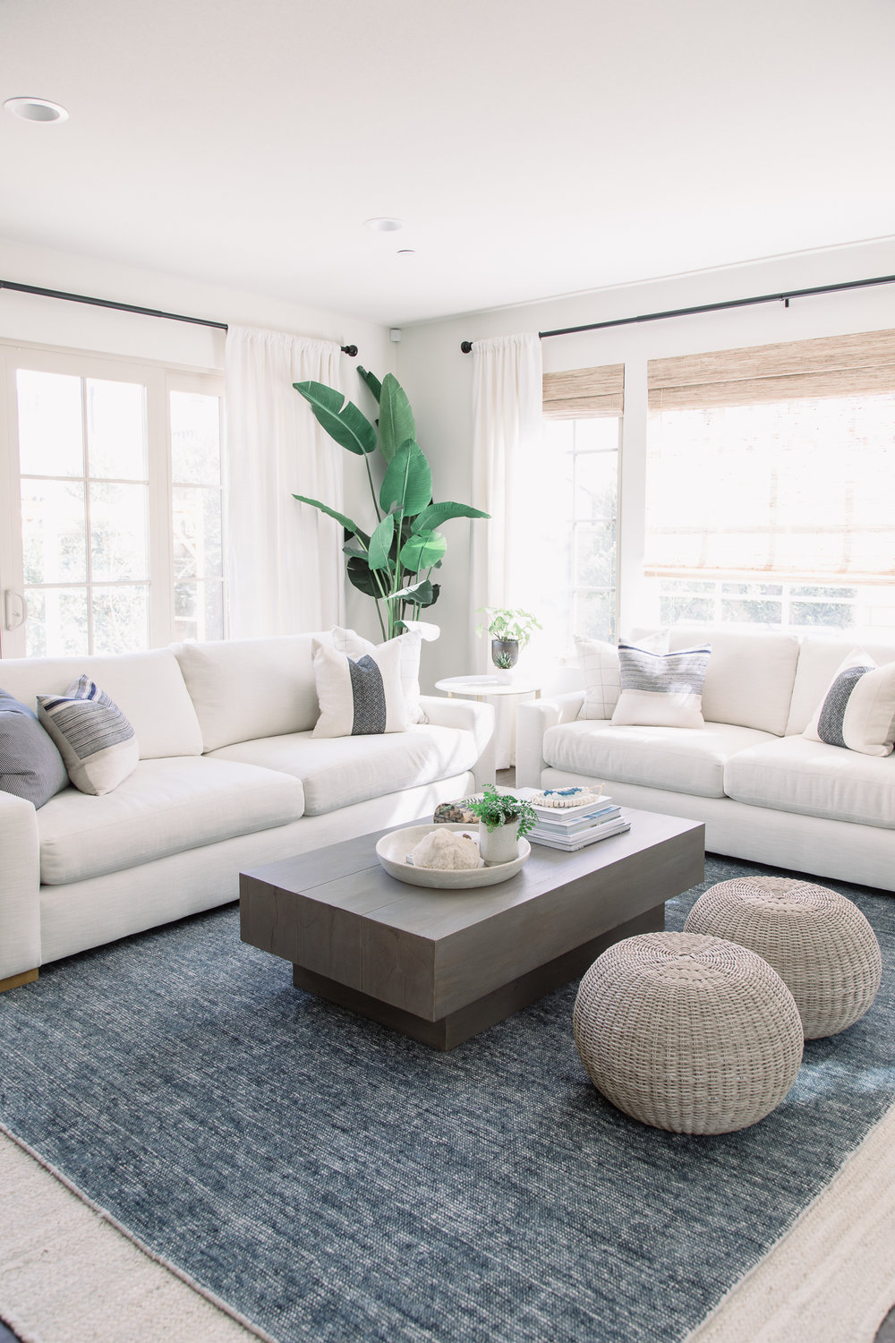 Nature is a part of every room in the home, with plants embellishing each design.