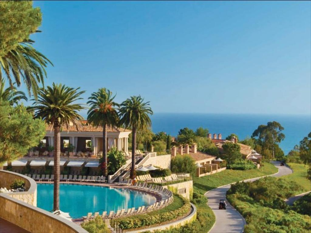 Views of the pool and ocean from the Resort at Pelican Hill.