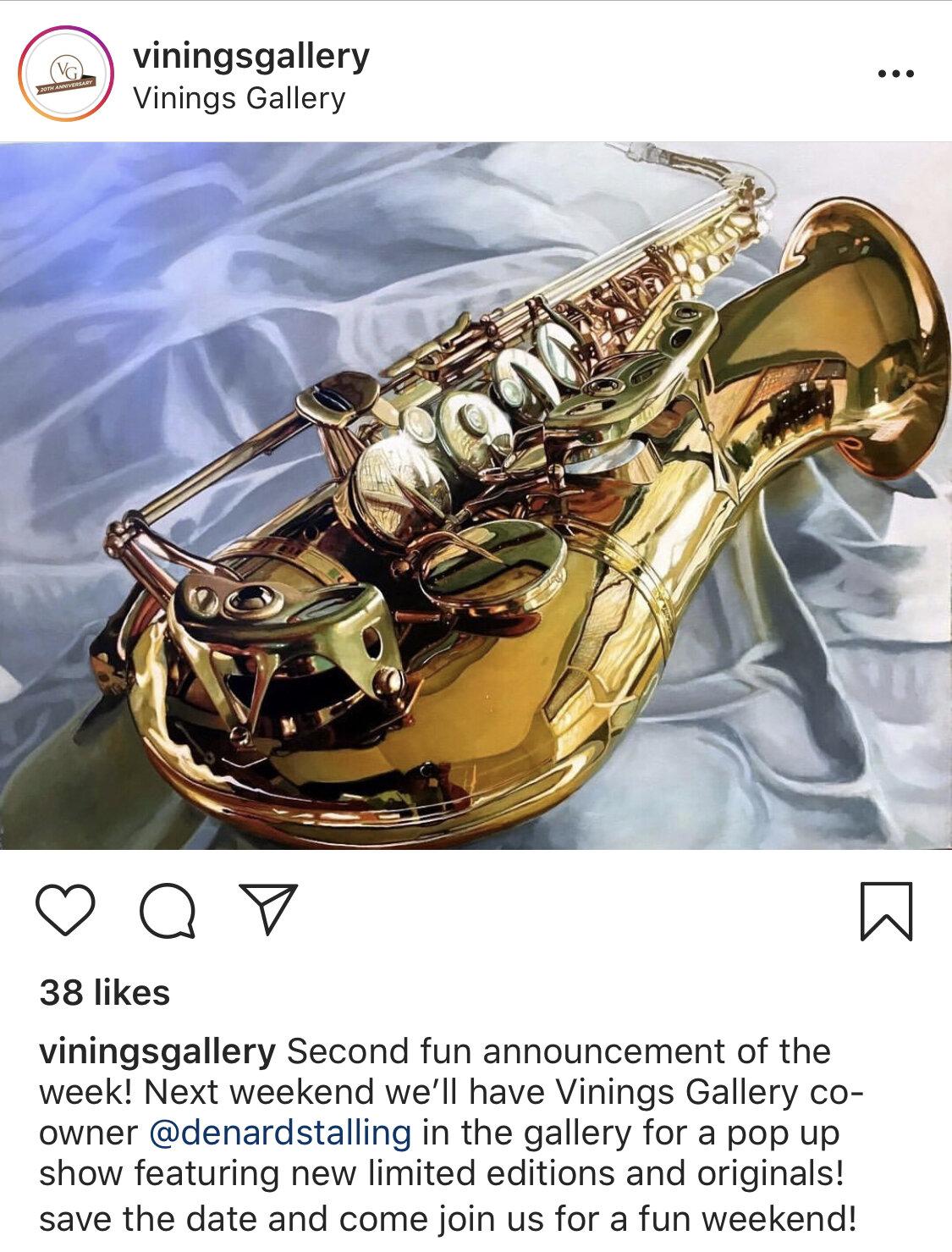 vinings gallery denard stalling saxophone