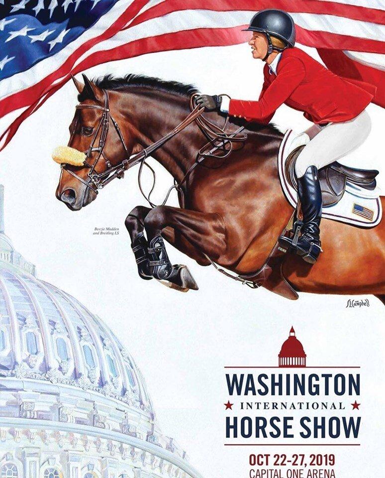 Beezie Madden and Breitling LS, Washington International Horse Show official artwork 2019